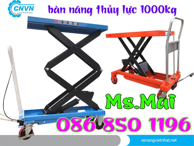 Xe Nâng Mặt Bàn 1000kg