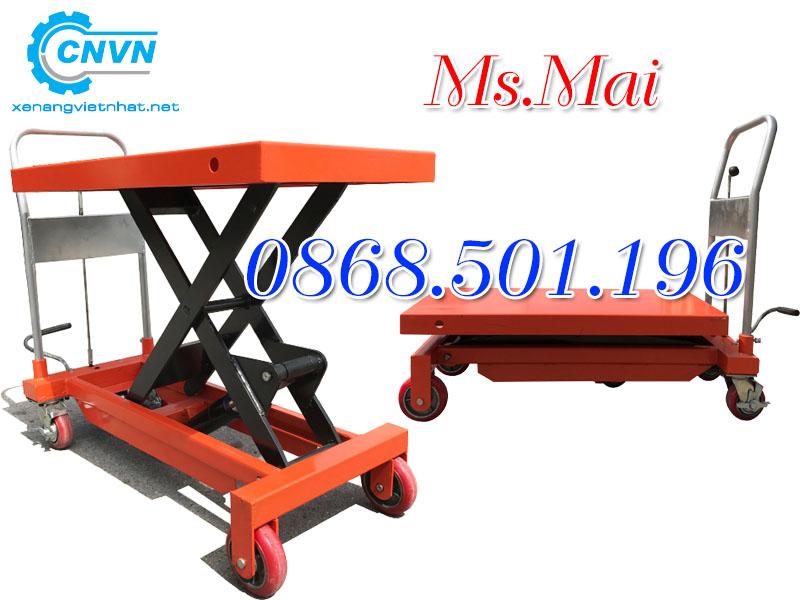 Bàn nâng thủy lực tải trọng nâng 1000kg nâng cao 900mm