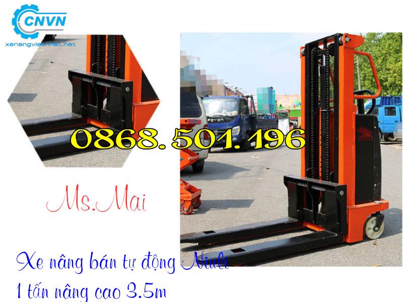 Xe nâng bán tự động 1000kg Niuli
