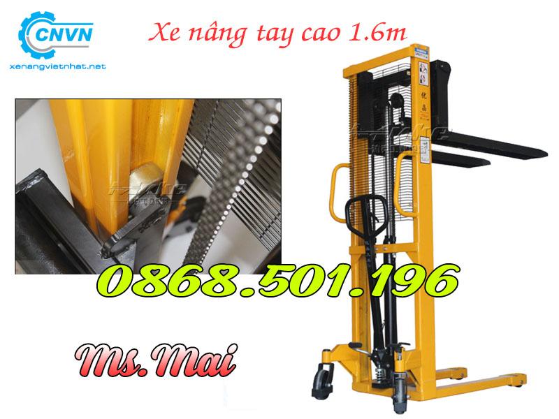 Xe Nâng Tay Cao Nhập Khẩu 1.6m