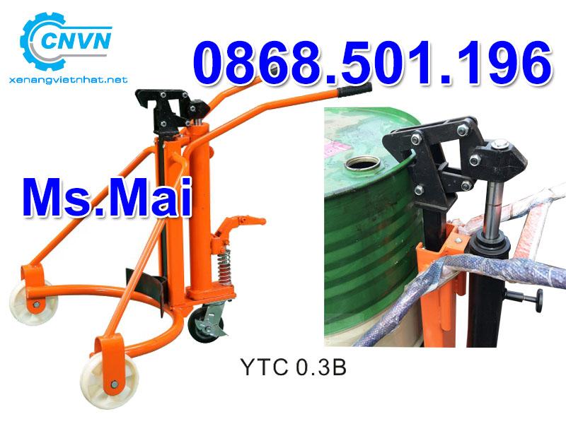 Xe nâng thùng phuy 300kg giá rẻ YTC0.3B