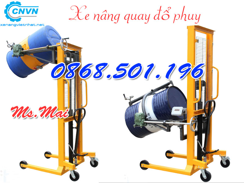 Xe Nâng Di Chuyển Phuy 300kg 350kg Giá Rẻ