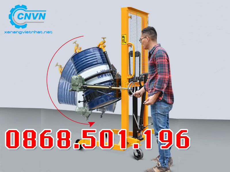 Xe Nâng Thùng Phuy 500kg Bảo Hành 24 Tháng