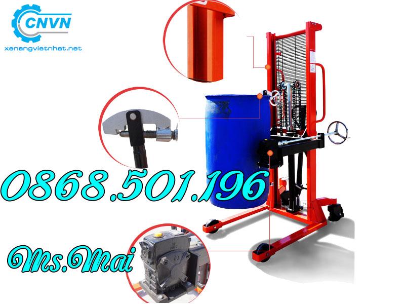 Xe Nâng Thùng Phuy 350kg Giá Rẻ