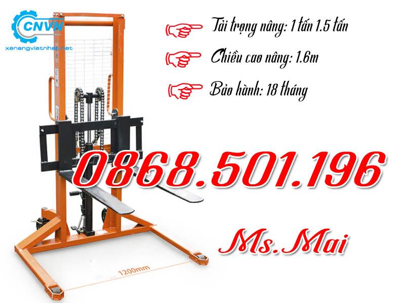 Xe Nâng Tay Cao 1000kg Chân Rộng Hiệu Quả