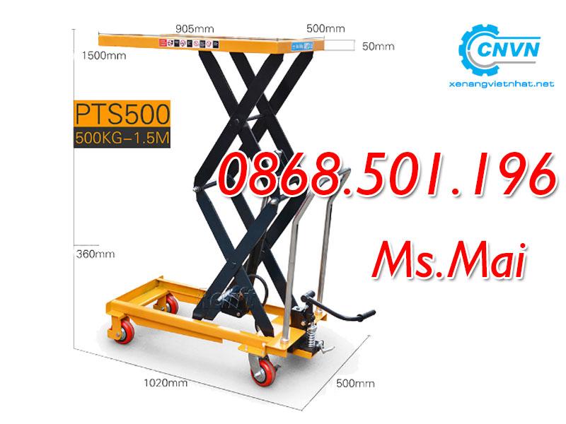 Bàn nâng thủy lực 500kg Staxx nâng cao 1500mm