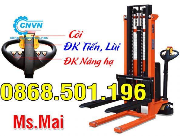 Xe nâng điện đứng lái 1.5 tấn hãng Niuli